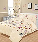 King Size Duvet / Quilt Cover Bedding Set Multi Butterfly Glaze by Ashley Mills