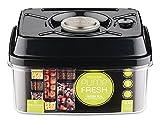 Pioneer Pump Fresh Action Vakuum Seal Frischhaltedose Lebensmittel Tupperware Box, Plastik, Schwarz, 1600ml