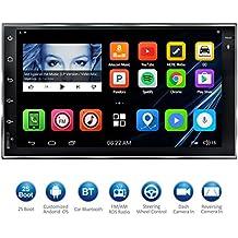 """Atoto 7 """"HD pantalla táctil 2DIN Android coche navegación estéreo – QuadCore coche entretenimiento multimedia w/fm/rds radio, WiFi, BT, espejo link, y más (no reproductor de DVD.)M4171"""