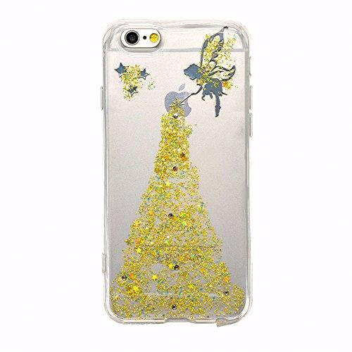 iPhone 6s Plus Hülle, iPhone 6 Plus Hülle, Vandot iPhone 6s Plus / 6 Plus Schutzhülle Diamant Bling Glitzer Transparent Muster Handyhülle Thin Pattern TPU Silikon Weich Case Cover Glänzend Malerei Dur Color 39
