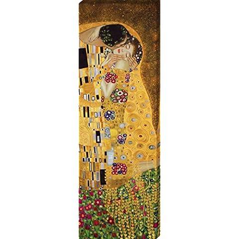 Gustav Klimt - El Beso II Cuadro, Lienzo Montado Sobre Bastidor (150 x 50cm)