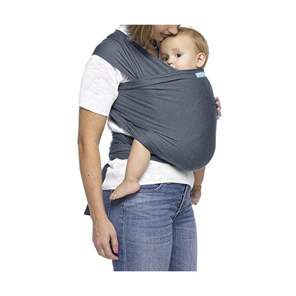 MOBY Evolution Baby Wrap Carrier for Newborn to Toddler up to 30lbs, Baby Sling from Birth, One Size Fits All, Breathable Stretchy Made from 70% Viscose 30% Cotton, Unisex Moby 70% Viscose / 30% Cotton Knit One-size-fits-all Grows with baby, from newborn to toddler 26