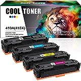 Cool Toner 4 Pack Compatible pour HP CF410A CF410X 410A CF411A CF412A CF413A...