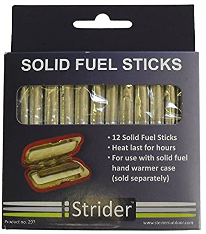 Strider Charcoal Rods for Solid Fuel Hand Warmer - Black