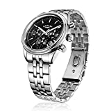 Rotary-Mens-Quartz-Watch-with-Black-Dial-Chronograph-Display-and-Silver-Stainless-Steel-Bracelet-GB0035004