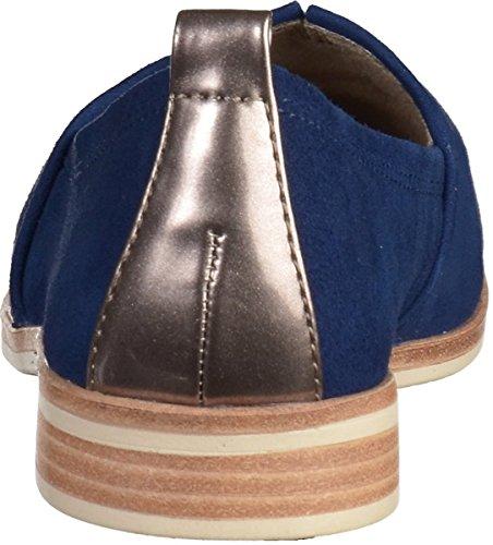 Tamaris Ballerina Slipper Noir 1-24618-22 017 macramé noir Bleu