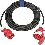 CEE-Verlängerung IP44 32A 400V 6h L.25m H07RN-F 5x4,0mm2 5polig Kragen-Steckvorrichtung z.Verwendung i.Innen-/Außenbereich
