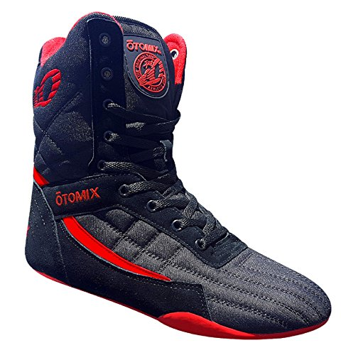 Pro-boxing-schuhe (OTOMIX Pro TKO Super Hi Pro Boxer Black Training Boots)