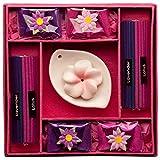 Blaze On® Blumen Räucherstäbchen- und Kerzen-Geschenkset rose