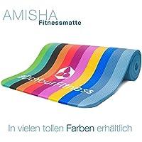Tappetino da ginnastica »Amisha« / spesso e morbido, ideale per pilates, ginnastica e yoga, dimensioni: 183 x 61 x 1,2cm / blu chiaro