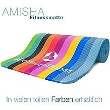 Esterilla para fitness »Amisha« / EXTRA gruesa y suave, perfecta para pilates, gimnasia y yoga / Medidas: 183 x 61 x 1,2cm / fucsia