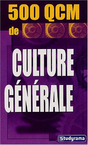 500 QCM de culture générale