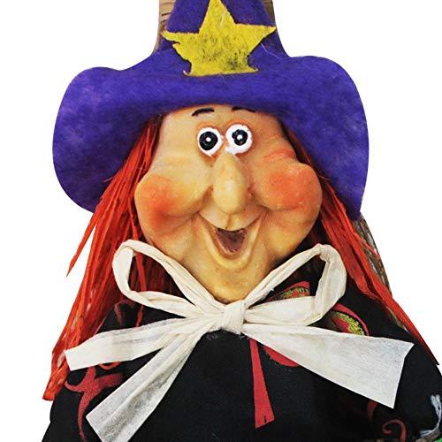Lxj Halloween Kleid Hexe Meister Besen Hexe Besen Magier Dekoration Requisiten Make-up Dämon Kugel Waffe (Szene Meister)