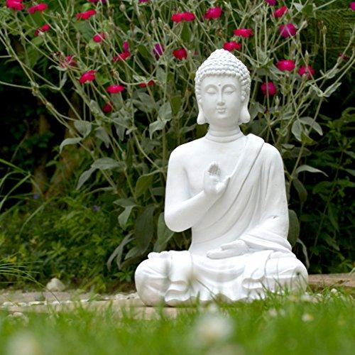 INtrenDU Budas Decorativos Exterior, Buda Figura Decorativo, Statua Jardin, 40cm Bianchi, decorazione domestica