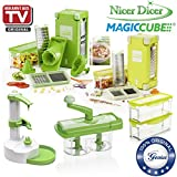 Genius Nicer Dicer Magic Cube Incluye Nicer Twist | 38 piezas | Cortes | Granular | Juliana |...