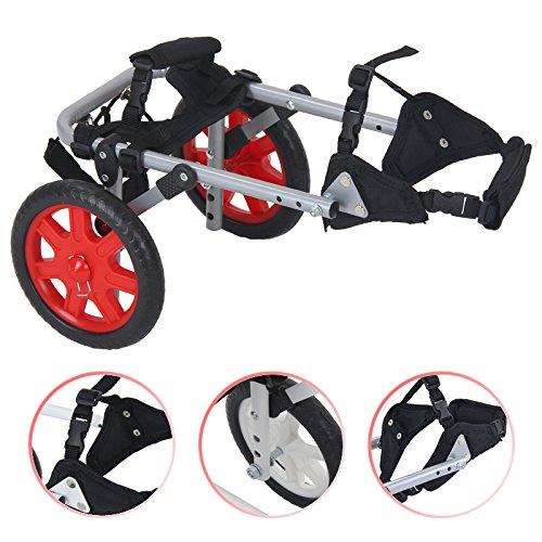 4U-Onlinehandel Alu Rollstuhl Hund Hunderollstuhl Gehhilfe Hundegehilfe Rollwagen Hunderollwagen Größe 0