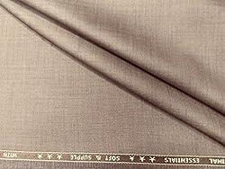 VIMAL Beige Polyblend unstiched 3m Suit Length