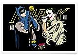 """JUNIQE® Poster 20x30cm Batman Joker - Design """"The Post Punk Face Off"""" (Format: Quer) - Bilder, Kunstdrucke & Prints von unabhängigen Künstlern - Kunst mit Superhelden - entworfen von Butcher Billy"""