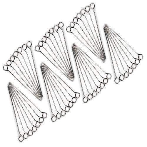 Rouladen-Nadeln aus Edelstahl, 50 Stück im Set, Rouladen-Spieße 10cm, rostfrei, Marke YOUZiNGS