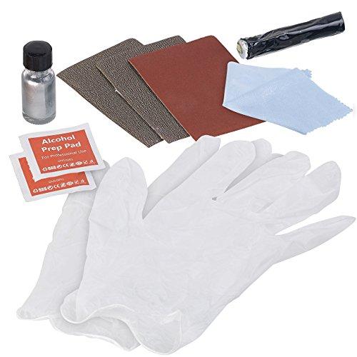 AGT Felgen-Reparatur-Set: Reparatur-Kit, Kratzer-Entferner & Langzeit-Schutz für Alufelgen & Co. (Kratzerentferner für Felgen)