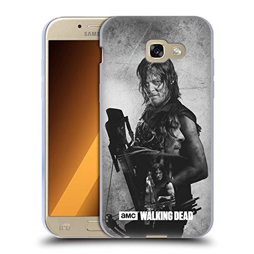 Officiel AMC The Walking Dead Daryl Exposition Double Étui Coque en Gel molle pour Samsung Galaxy A5 (2017)