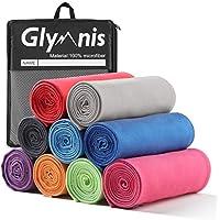 Glymnis Mikrofaser Handtücher schnelltrocknend Sporthandtuch Strandhandtuch Viele Größen und Farben saugfähig weich für Sport Yoga Sauna Fitness und Strand