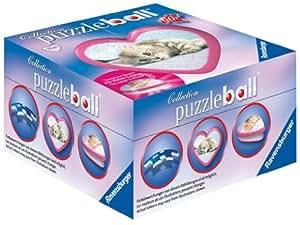 Ravensburger 11427 - Süße Tiere - 60 Teile Herz puzzleball