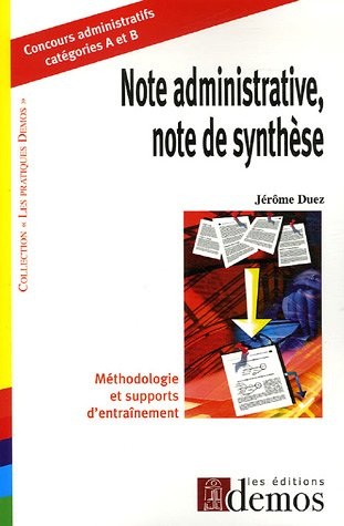 Note administrative, note de synthèse