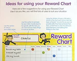 4 x Childrens Reward Charts and 250 Stickers for Rewarding Kids Good Behaviour