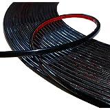 AERZETIX: 4mm 4.5mTira adhesiva para decoracion colorado negro para auto transporta en coche moto