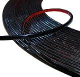Aerzetix: 6mm 15M cinta varita adhesiva color negro para Auto Coche Moto