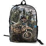 Durable Polyester Daypack Motocross Sport Motorcycle Vehicle Reisen Hiking & Camping Rucksack - Big...