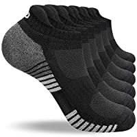 LANYI Ankle Running Socks Men Women Low Cut Sports Athletic Cotton Socks Casual Comfy Deodorization Tab Socks 6 Pack