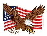 Adler Eagle Flagge Usa Aufnäher Bügelbild