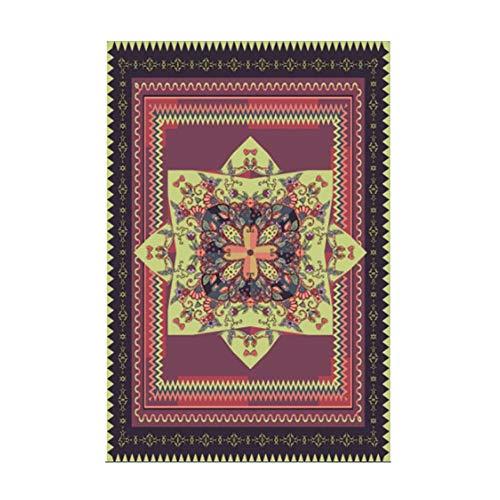 Zmymzm Bedruckter Teppich,vorzüglicher und weicher Teppich, für Wohnzimmer und Schlafzimmer,A,140 * 200cm