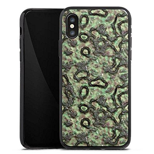 Apple iPhone X Silikon Hülle Case Schutzhülle Slime Grün Abstrakt Silikon Case schwarz