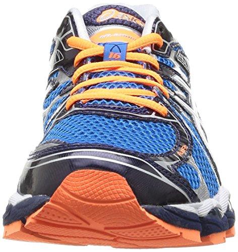 Asics Gel Nimbus 16 Scarpe da Corsa, Blu Blu/Bianco/Nero/Arancione