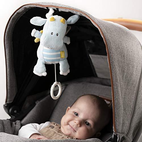 Fehn 065015 Spieluhr Drache/Kuscheltier mit integriertem Spielwerk mit sanfter Melodie zum Aufhängen an Kinderwagen, Babyschale oder Bett, für Babys und Kleinkinder ab 0+ Monaten - 5