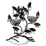 Soporte de joyería 'Nidos con nidos' - Negro 32 x 30 x 11 cm - Marco para almacenamiento de joyas y...