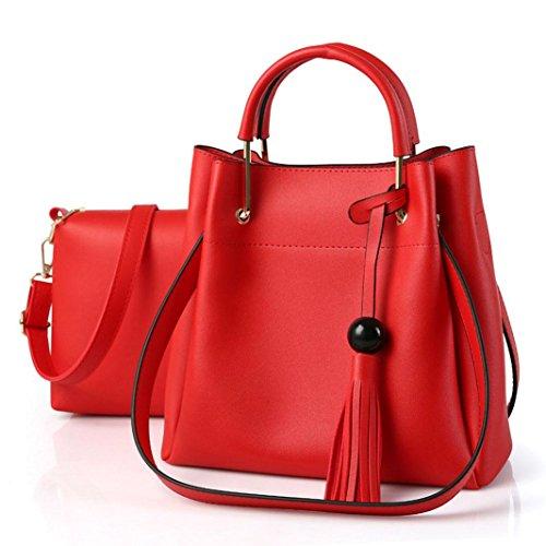 CELO PU moda Duro per mettere la borsa delle signore Commute la festa della madre Borsa a tracolla obliqua della traversa delle donne , Dark Gray Red
