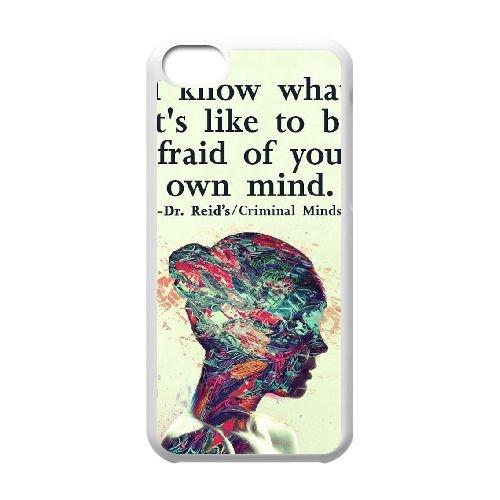 Criminal Minds coque iPhone 5C Housse Blanc téléphone portable couverture de cas coque EBDXJKNBO16449
