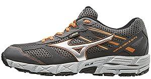Mizuno Men Wave Kien 3 G-TX Trail Running Shoes, Grey (Dark Shadow/Silver/Clownfish), 7 UK 40 1/2 EU