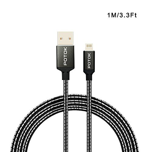 lightning-cable-potokr-33ft-1m-super-durable-metal-tangle-free-charger-data-and-sync-charging-cord-f