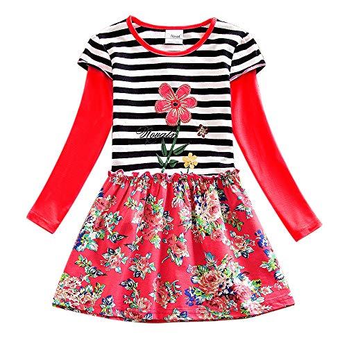 Baby Mädchen Kleid Karikatur Hase Bunny Kleider Blumen Langarm Tutu Urlaub Prinzessin Outfit Kleidung ()