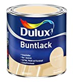 5 x 500ml Dulux Buntlack Seidenmatt für innen und außen 2,5 Liter Farbton Wählbar, Farbe:Hellelfenbein RAL 1015