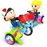 Gooyo Stunt Tricycle Bump and Go Toy with 4D Lights, Dancing Toy