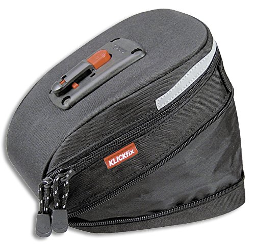 KLICKfix Farradtasche Micro 200 Expandable Schwarz, 0295S