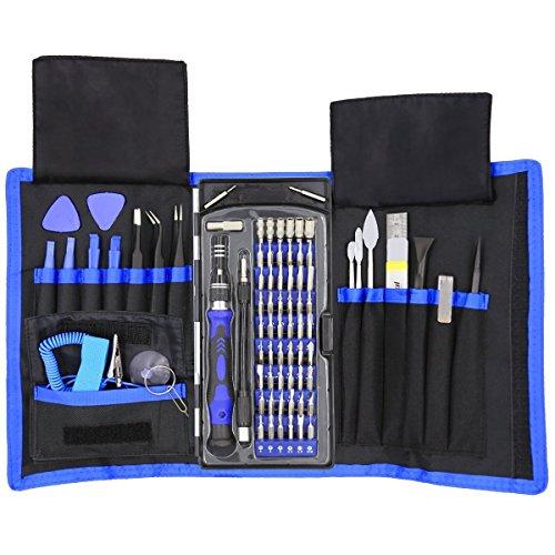 Präzision Schraubendreher Set, 80 in 1 Schraubenzieher Set Magnet Reparatur Tool Kit mit Tragbaren Tasche für Elektronische Geräte (Präzisions-schraubendreher-set Kit)