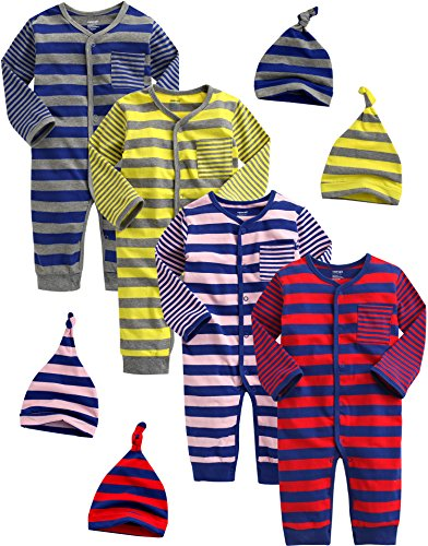 Vaenait baby Saugling Infant Jungs 4 Pack One Piece Bodysuit Spy Kids Boy 3-6M
