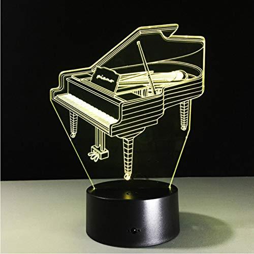 Energienbank-Usb führte Lampen-Noten-Schalter des Klavier-3d geführte Nachtlicht-batteriebetriebenen geführten Usb-Licht (Elsa-klavier Und Anna)